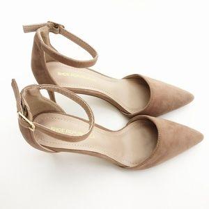 New Shoe Republic LA Tan Faux Suede Heels